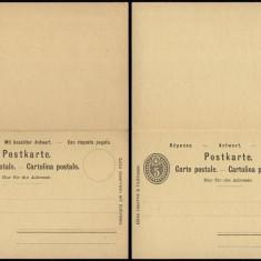 Switzerland - Postal History Rare Old Postal stationery + Reply UNUSED DB.176