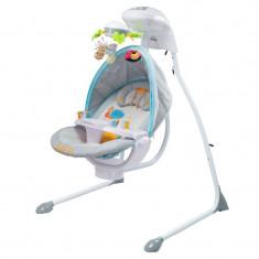 Leagan electric pentru bebelusi Caretero Bugies LCBG, Gri