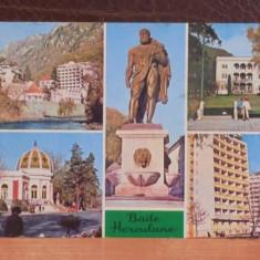 R.S.R. - BAILE HERCULANE - 5 VEDERI DIN STATIUNE - CIRCULATA, TIMBRATA.