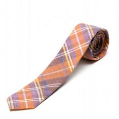 Cravata Portocalie In Carouri CR006-2817