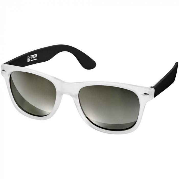 Ochelari de soare, US Basic by AleXer, OSSG012, policarbonat, acril, negru, transparent, breloc inclus din piele ecologica
