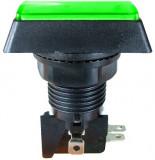 Push buton fara retinere, verde, 15A, 250V, 43x50x33mm - 124766