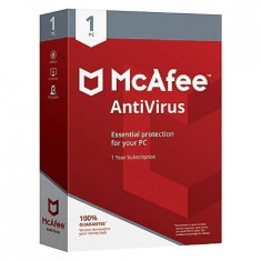 McAfee Antivirus, 1 an, licenta electronica