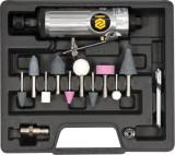 Polizor drept pneumatic 6 mm si accesorii VOREL, Aer comprimat