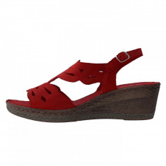 Sandale dama, din piele naturala, marca Walk, 2805-05-38, rosu , marime: 37