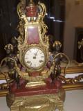 ceas/pendula semineu Imperial,Italia, bronz marmura