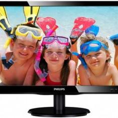 Monitor LED Philips 19.5inch 200V4LAB2/00, HD+ (1600 x 900), VGA, DVI, 5 ms, Boxe (Negru)