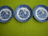 Portelan englezesc Country Style Staffordshire, set de 3 farfurioare