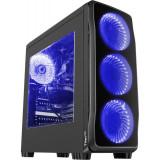 Sistem desktop Express Powered by MSI Intel Core i3-9100F Quad Core 3.6 GHz 8GB RAM DDR4 nVidia GeForce GTX 1650 4GB DDR5 HDD 1TB FreeDos Black
