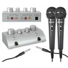 Mixer karaoke cu microfoane incluse