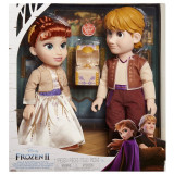 Set 2 papusi Anna si Kristoff Frozen II, 35/38 cm, 3 ani+, General