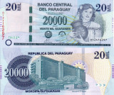 PARAGUAY 20.000 guaranies 2011 UNC!!!