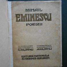 MIHAIL EMINESCU - POEZII (1928, editia G. Murnu, desene de A. Murnu)