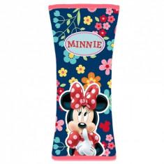 Protectie pentru centura de siguranta Minnie Mouse, roz