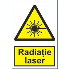 Indicator Radiatie laser - Semn Protectia Muncii