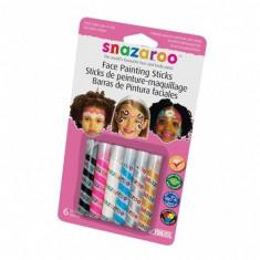 Set 6 Stick-uri decor pictura pe fata Snazaroo GIRLS PARTY