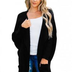 L656-1 Cardigan tricotat model lejer cu buzunare, L, M, M/L, S/M