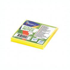 Notite adezive Forpus 42010 75x75mm 80 file galben