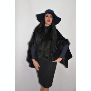Jacheta tip poncho,culoare negru