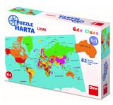 Puzzle geografic - Harta Lumii (82 piese)