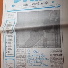Ziarul star 9-15 aprlie 1990-interviu cu paunita ionescu,art.lucia hossu longin