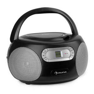 Auna Haddaway, CD boombox, CD player, bluetooth, FM, intrare AUX, display LED, negru