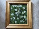 Tablou,pictura germana in ulei pe panza,flori de camp, Altul