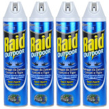 4 x Raid Outdoor Spray anti muste si tantari, 4 x 400ml