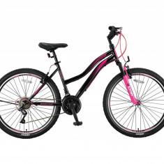 """Bicicleta MTB Umit Adeline Lady, Culoare Negru/Roz , Roata 26"""", OtelPB Cod:2648000001, V-brake"""