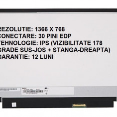 Display laptop nou IPS 11.6 slim 30 pini compatibil B116XTN02.3 HW0A HW2B HW2C prindere stanga/dreapta