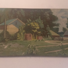 tablou semnat HERMANNY D B   1956  ulei pe panza  120x60 cm  peisaj