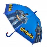 Umbrela pentru copii, model batman, albastru, 48×85 cm