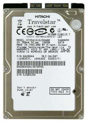 hdd Hard Disk laptop HGST Travelstar 5K160 HTS541616J9SA00  160 GB - SATA foto