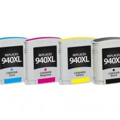 Set 4 cartuse imprimanta HP 940XL Black,Cyan,Magenta,Yellow compatibile