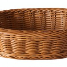 Cos paine, fructe, legume oval servire rezistent la apa, 23.5 x 15 x 7 cm culoare cafea, 014031