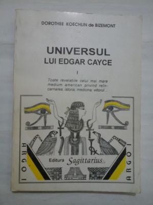 UNIVERSUL LUI EDGAR CAYCE - D.KOECHLIN de BIZEMONT - volumul 1 foto