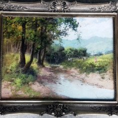 Tablou Pastoriata Neogrady Laszlo (1896-1962), Peisaje, Ulei, Realism