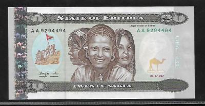 Eritrea   20  Nafka 1997 -UNC foto