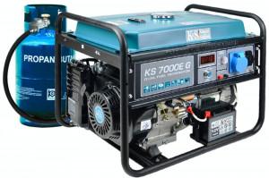 Generator curent KS 7000E G Könner & Söhnen Germany, GPL/benzina, 5.5 kW