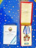 C582-I-RPR Ordinul Meritul militar cu Brevet 1957 Clasa a 2-Bronz aurit emailat.
