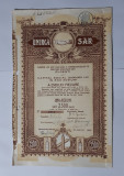 Actiune 1930 Unirea Ploiesti - Ape gazoase - bauturi spirtoase - titlu - actiuni