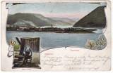 # 2328 Romania, Ada- Kaleh, Orsova c.p. circulata 1914:  Panorama, turc, Fotografie