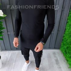 Bluza fashion barbati neagra - COLECTIE NOUA A6439