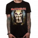 Tricou Unisex Iron Maiden: Eddie Candle Finger
