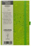 Cumpara ieftin Bloc Notes Ivory Animals, 192 pagini, velin, coperta PU, verde, motiv Elephant