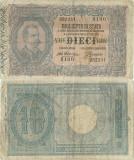 1918 ( 29 VII ) , 10 lire ( P-20gx ) - Italia