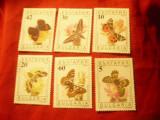 Serie Bulgaria 1990 - Fluturi , 6 valori