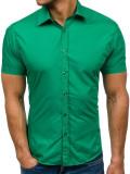 Cumpara ieftin Cămașă elegantă cu mâneca scurtă pentru bărbat verde Bolf 7501, Maneca scurta