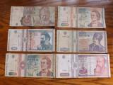 Romania - Lot nr. 5  Bancnote de la 500 lei 1991 la 10000 lei 1994