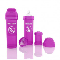 Biberon Anti colici 330 ml Twistshake Violet